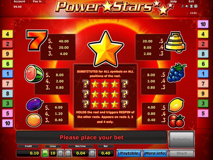 Spinning Stars klassischer Frucht-Spielautomat - Jetzt online gratis spielen