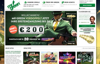 Im Mr Green Casino spielen