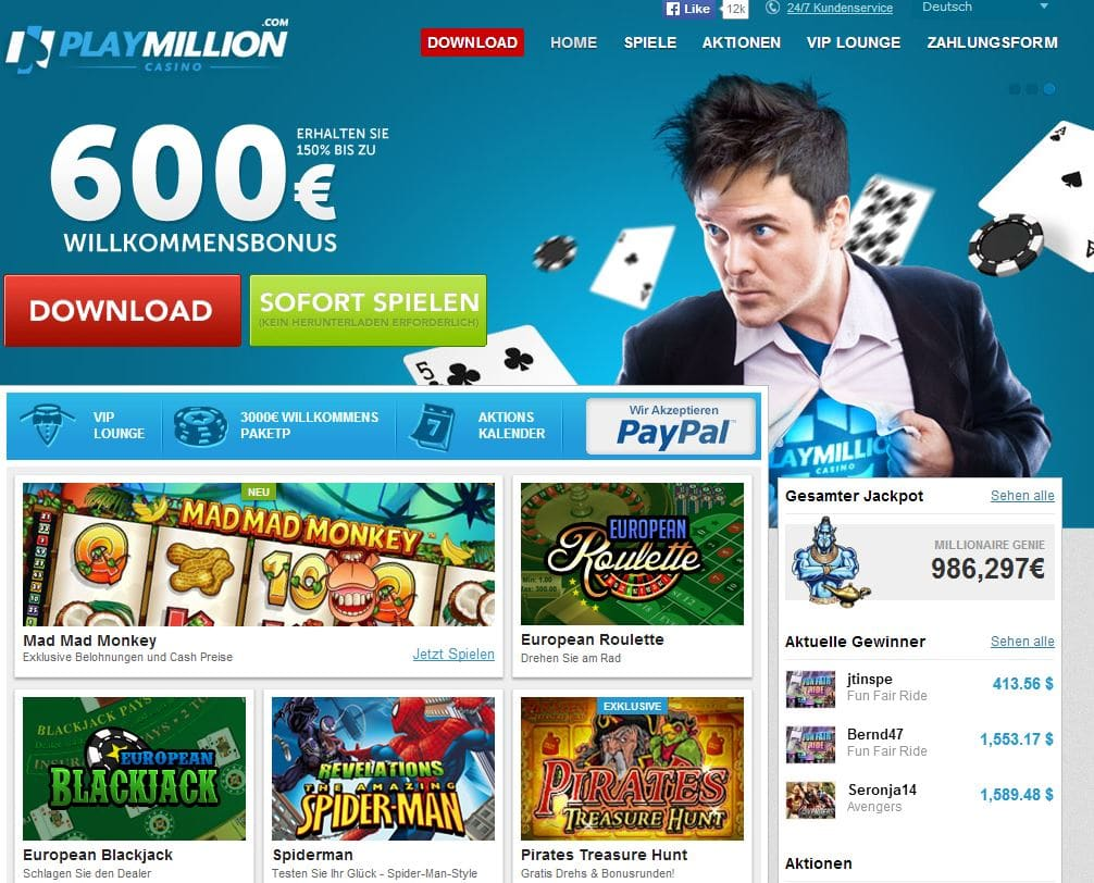 PlayMillion Casino antesten